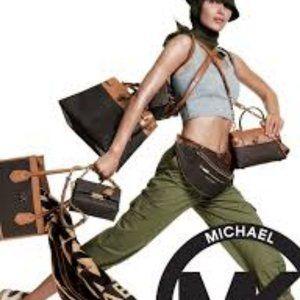 Michael Kors bronze Studded MK Logo Jeans